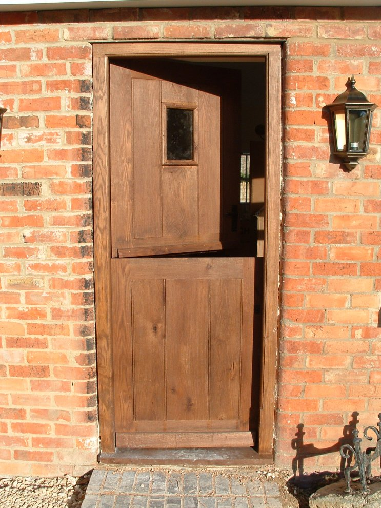 stable door complete with small window & Oak Exterior Doors | Distinctive Country Furniture Limited - Makers ...
