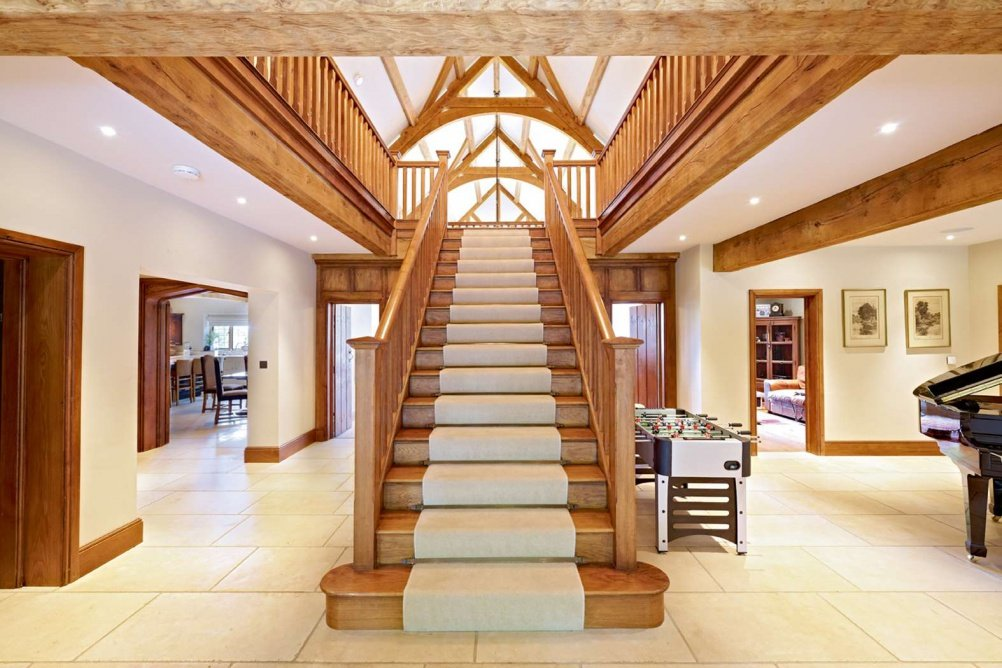 An Oak Staircase In Timber Framed House
