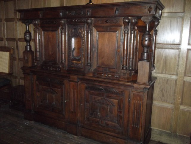 court cupboard with hand carvings