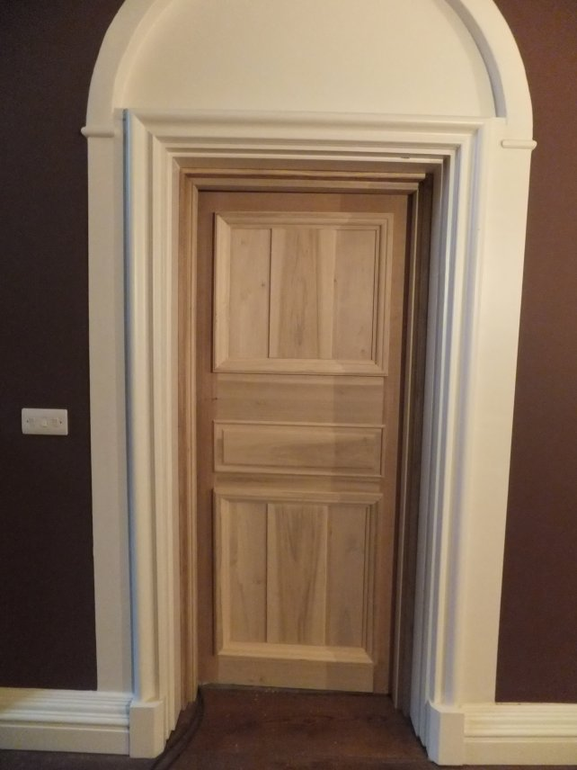 tulipwood door with bolection moulding