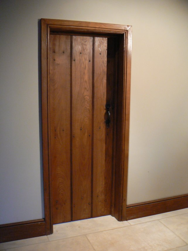 wooden planked door
