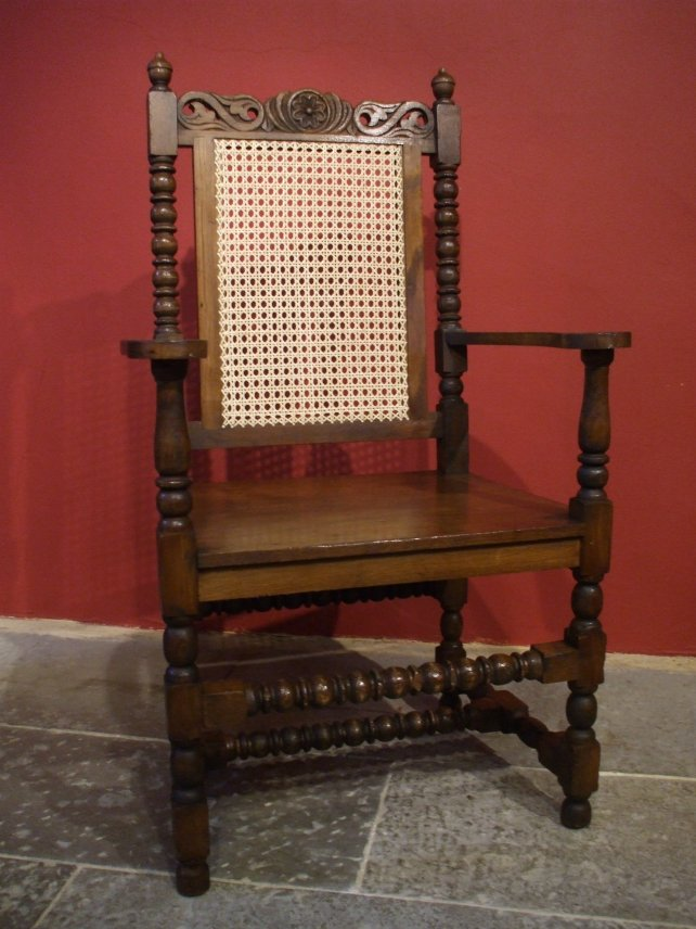 wicker backed dining room chair