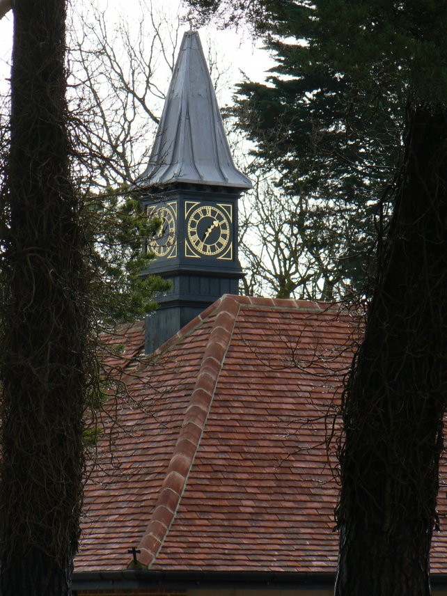 clock tower with leaded roof