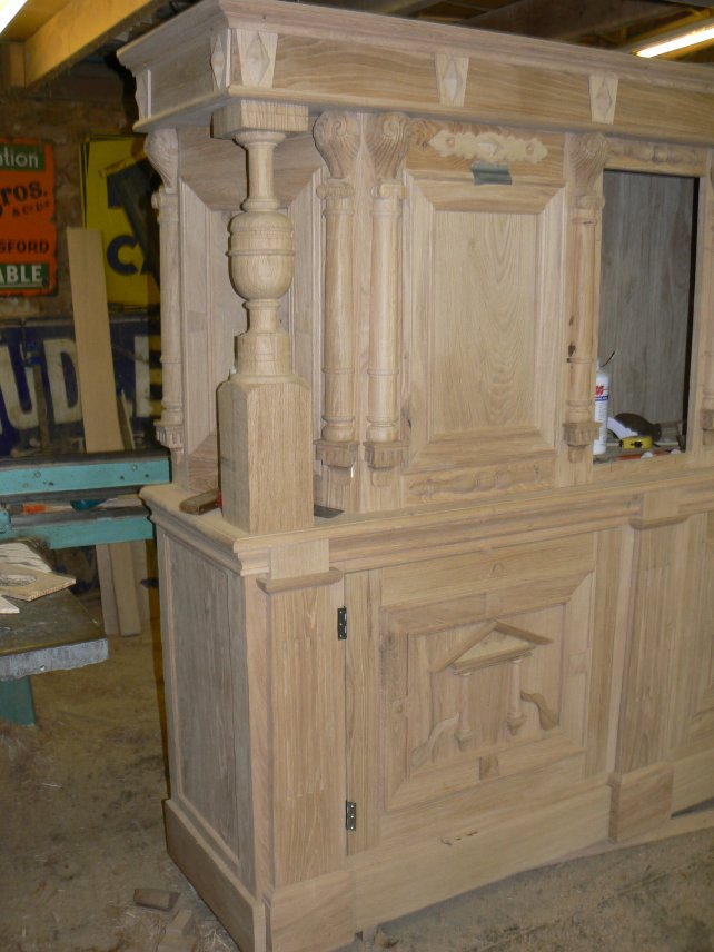 court cupboard unfinished