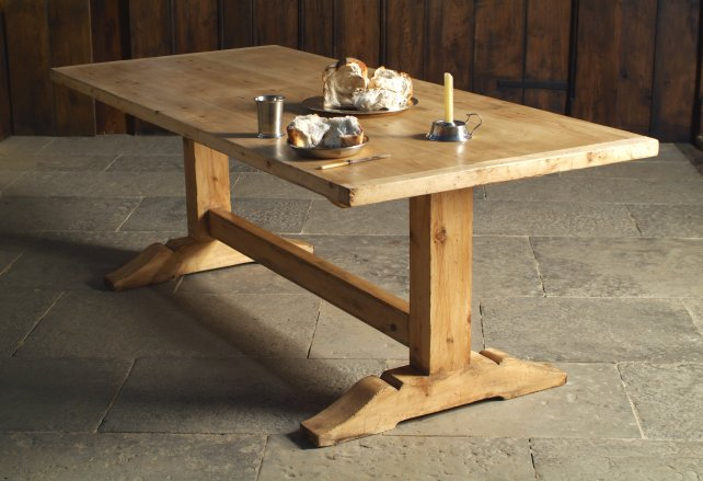 17th century simple trestle table