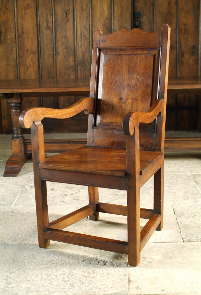 chair with shaped crest rail