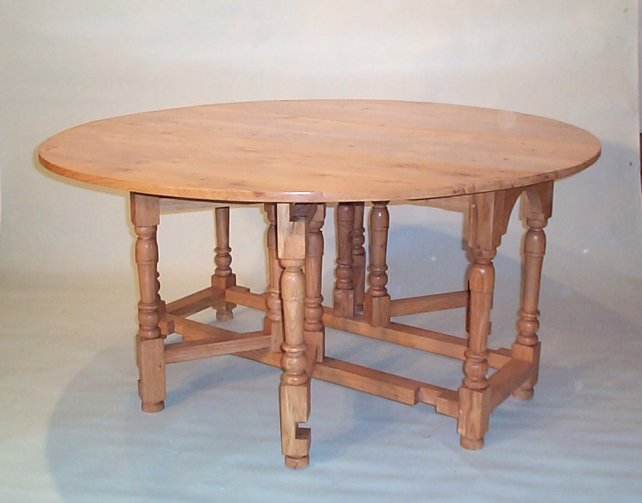 gateleg table with single gates