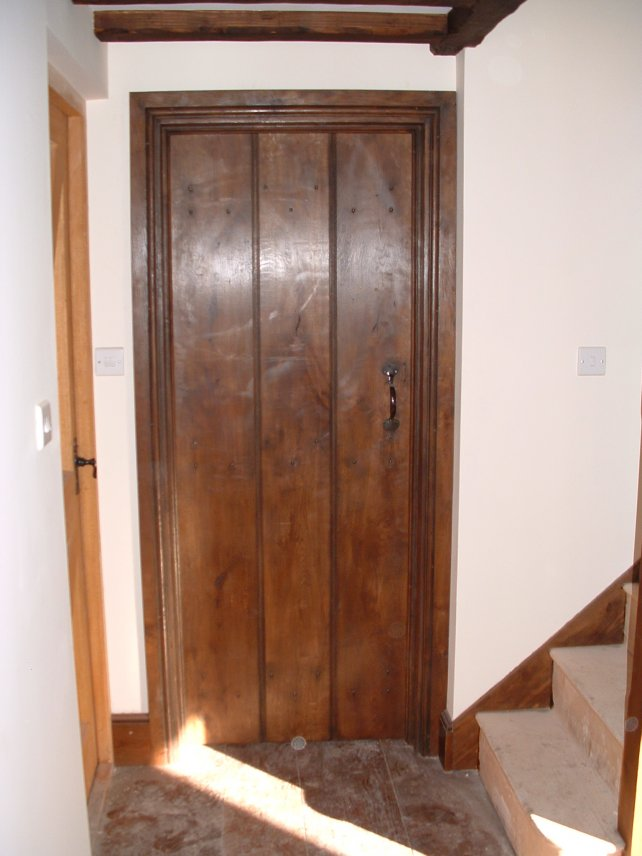 wide oak planked door