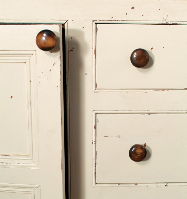 detailing of our distressed, aged and painted finish