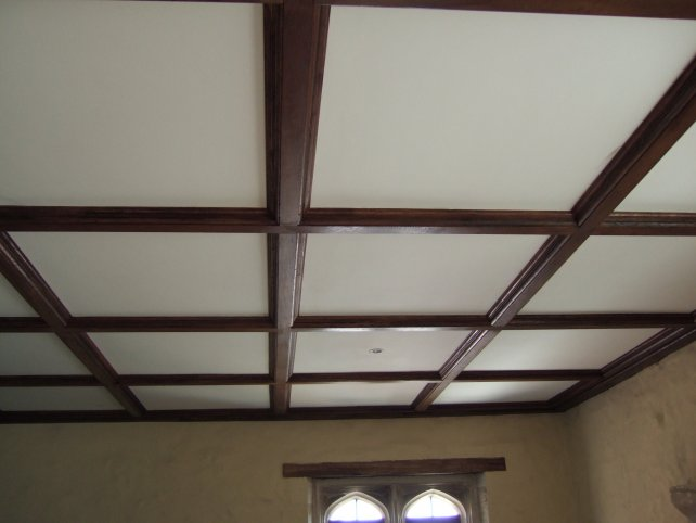 cladded beams, aged and polished