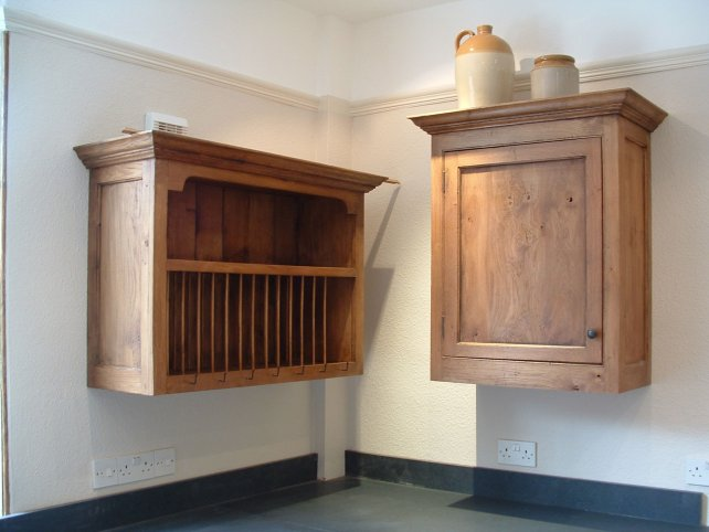 solid oak plate rack