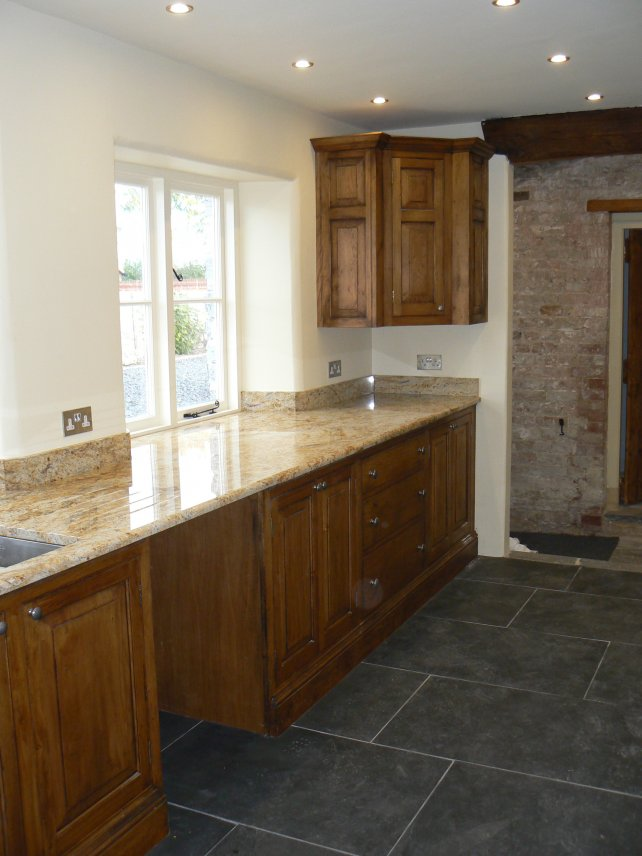 oak kitchen with granite worktop