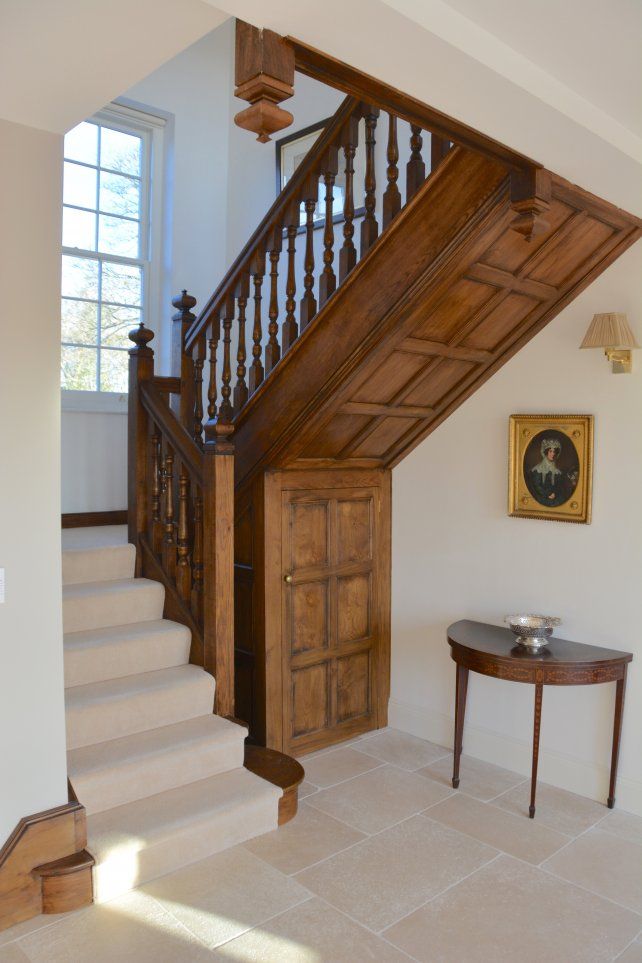oak staircase and under stair panelling
