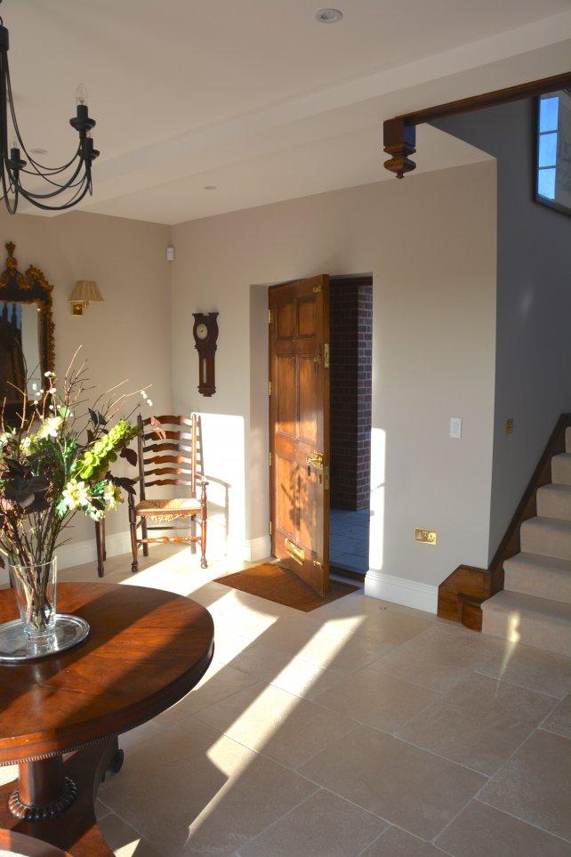 panelled front door