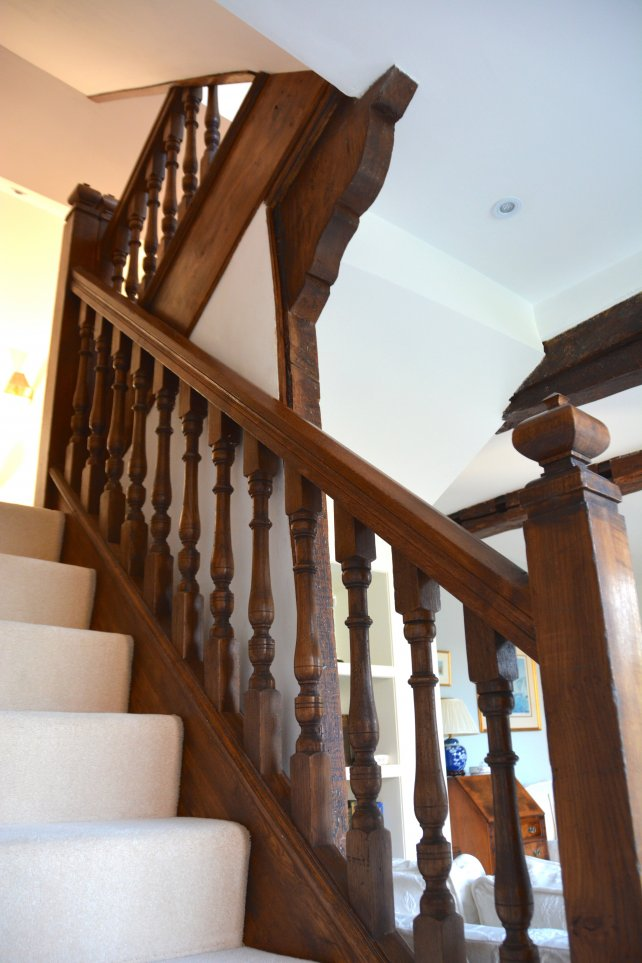 wrap and clad refurbishment of an oak staircase