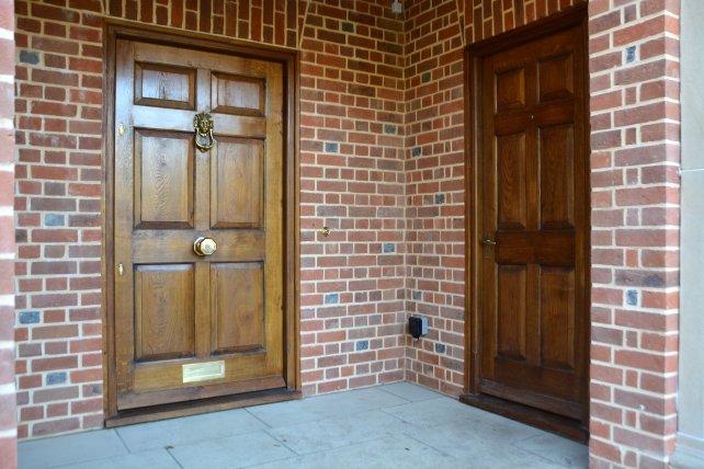6 paneled oak front doors