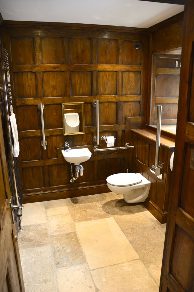 tudor style full height period panelling to a bathroom