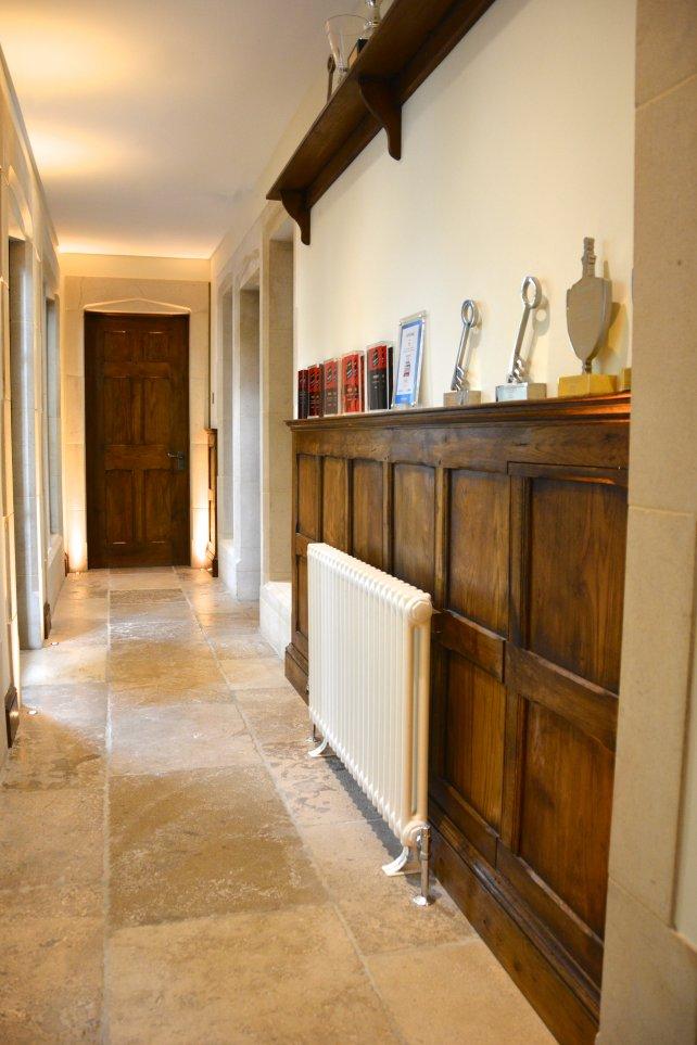 waist height hallway panelling