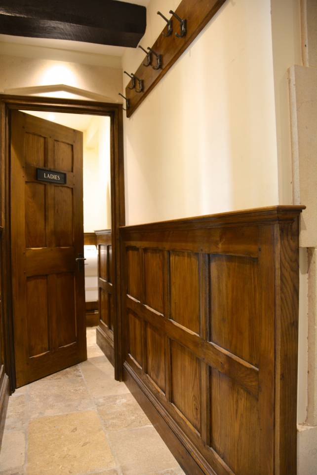 waist or dado height hallway panelling