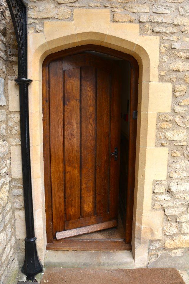 gothic exterior door