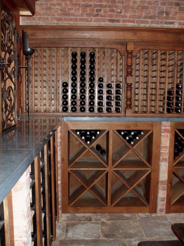 bespoke oak wine room