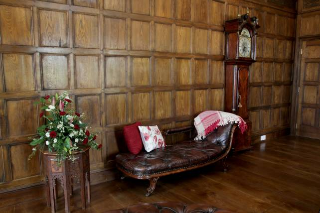 17th century period oak panelling and flooring