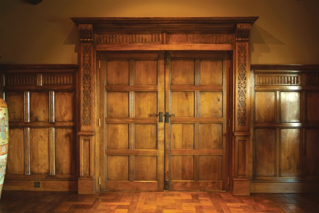 pair of 8 panelled 16th century doors