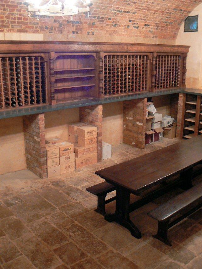 bespoke oak wine cellar