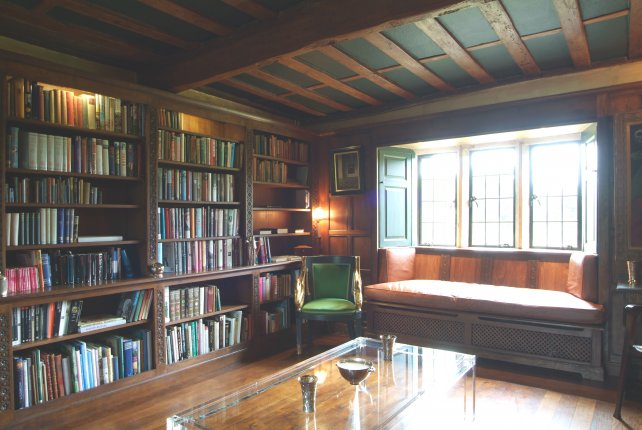 early 16th century oak library with window seat
