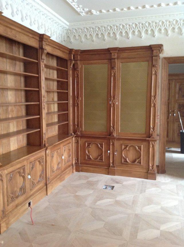 gothic style oak study