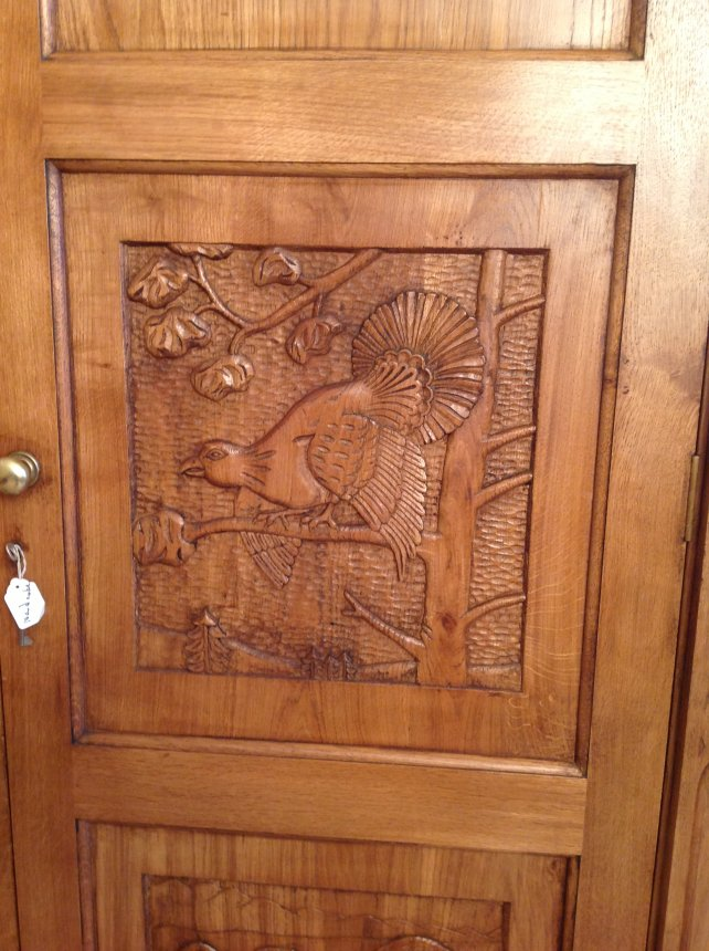 hand carved panel