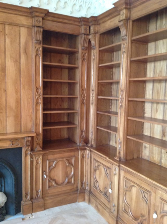 gothic oak library