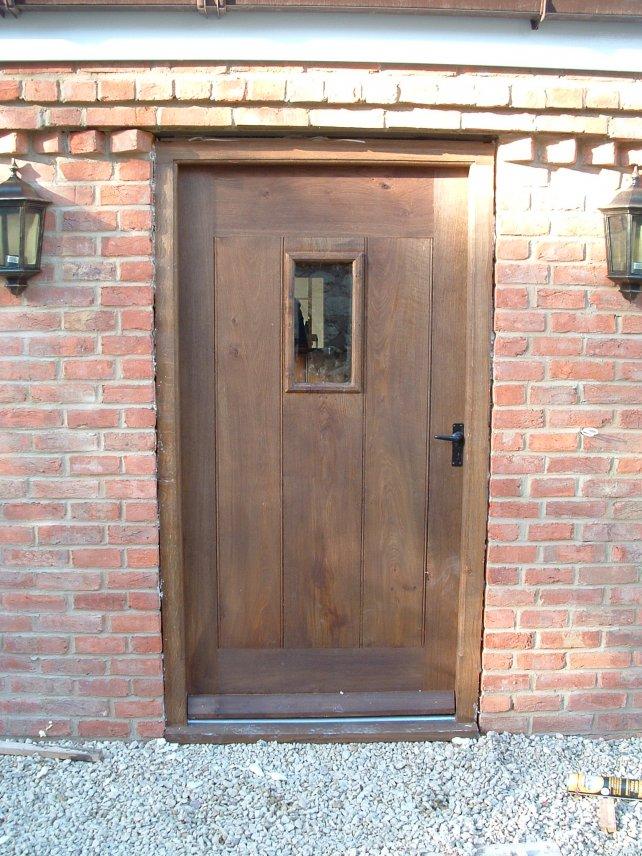 back door and frame in oak