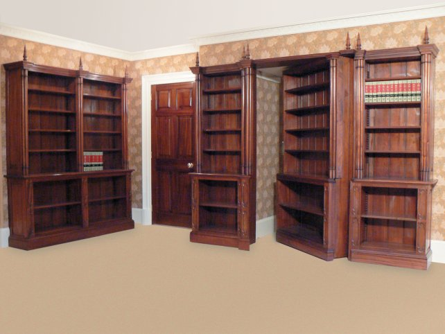 mahogany book room