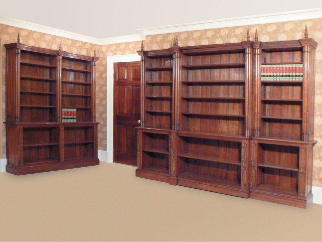 Pugin style mahogany bookcase